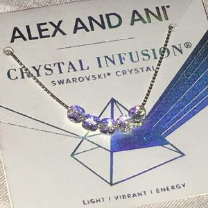 ALEX AND ANI crystal infusions bracelet IRIDESCENT